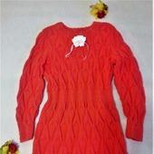 Платье вязаное для девочки 6-8 лет