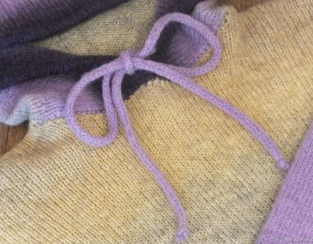 """Джемпер из 100% шерсти кауни с капюшоном """"Уютное счастье"""" ручной работы на заказ"""