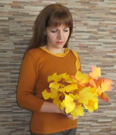 """Джемпер """"Осенний вальс"""" ручной работы на заказ"""