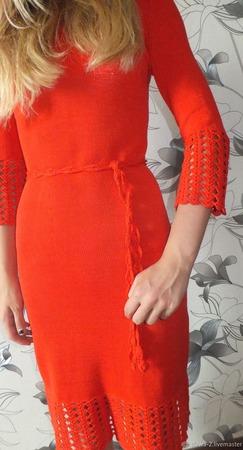 """Платье из 100% хлопка """"Пять дней в Париже"""" ручной работы на заказ"""