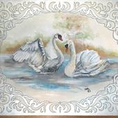 фото: Картины и панно (лебеди)