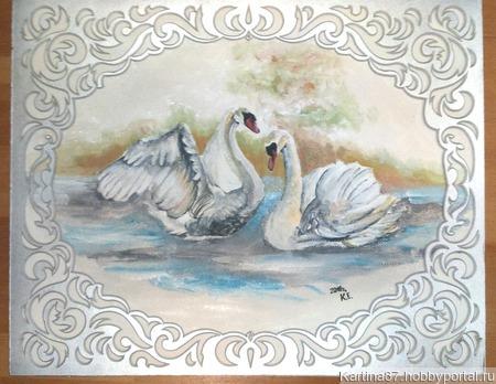 """Картина акрилом """"История любви"""" ручной работы на заказ"""
