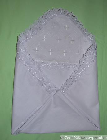 Крестильная пеленка ручной работы на заказ