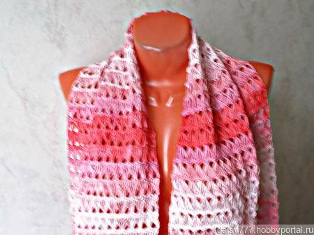"""Палантин ручной работы """"Розовая жемчужина"""" модель 1 ручной работы на заказ"""