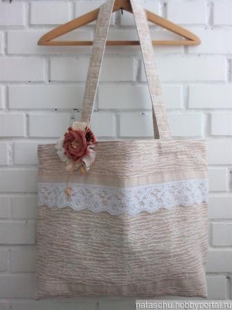 Авоська романтическая «Первые цветы» ручной работы на заказ
