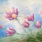 фото: Картины и панно (весенние цветы)