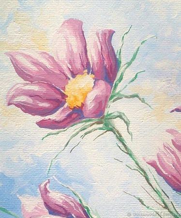 "Картина ""Первоцвет"" ручной работы на заказ"