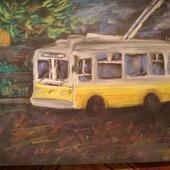 """Картина """"Троллейбус"""""""