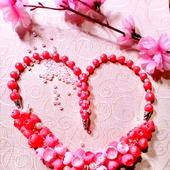 """Колье """"Розовые бутоны"""" из полимерной глины"""