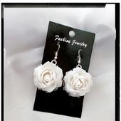 """Серьги """"Белые розы"""""""