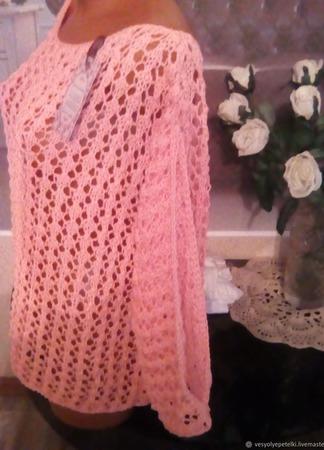 """Пуловер """"Персиковый рай"""" ручной работы на заказ"""