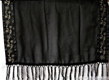 Палантин ручной работы «Серебристые одуванчики» ручной работы на заказ
