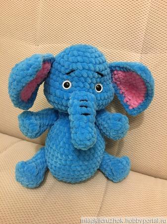 Игрушка вязаная Слонёнок ручной работы на заказ