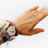 Текстильный браслет в стиле бохо