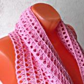 Палантин ручной работы  «Розовая жемчужина» модель 2