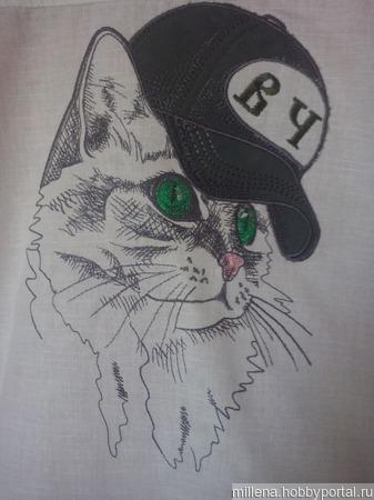 Рубашка с машинной вышивкой ручной работы на заказ