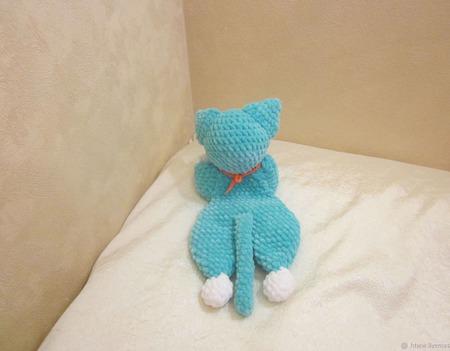Плюшевый комфортер котенок Боссик ручной работы на заказ