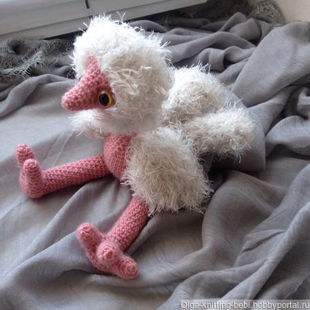 Игрушка страусёнок ручной работы на заказ