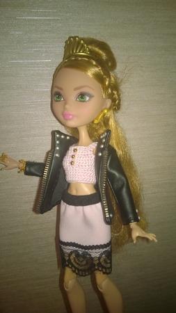 Одежда для кукол Черно-розовый аутфит ручной работы на заказ