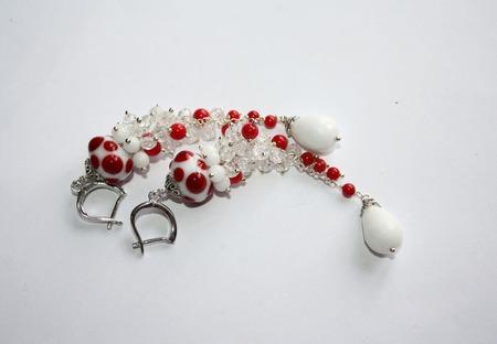 Серьги грозди серебряные ручной работы на заказ