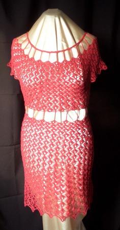 """Платье """"Соблазн"""" вязаное крючком ручной работы на заказ"""