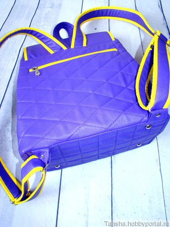 Рюкзак фиолетовый женский ручной работы на заказ