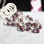 Серьги-гвоздики с кольцами