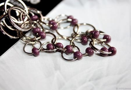 Серьги-гвоздики с кольцами ручной работы на заказ