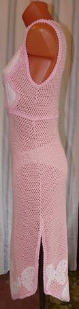 """Платье """"Бабочки"""" из коллекции """"Розовое шампанское"""" ручной работы на заказ"""