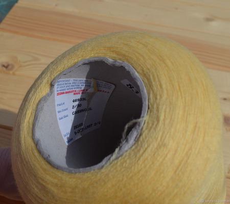 Итальянская пряжа Zegna Baruffa Cashwool Желтый ручной работы на заказ