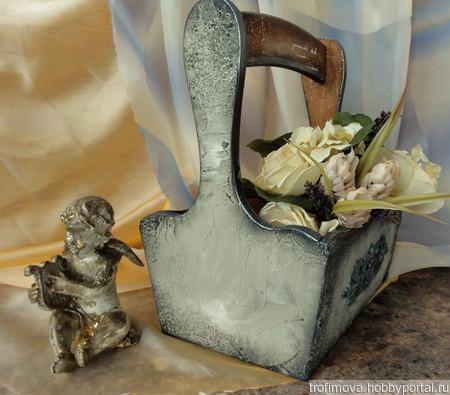 Интерьерная корзинка ручной работы на заказ