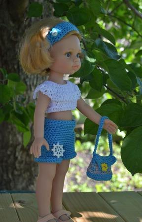 """Комплект одежды для куклы Paola Reina """"Море"""" ручной работы на заказ"""