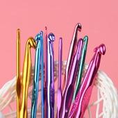 Алюминиевые крючки для вязания (2-8 мм)