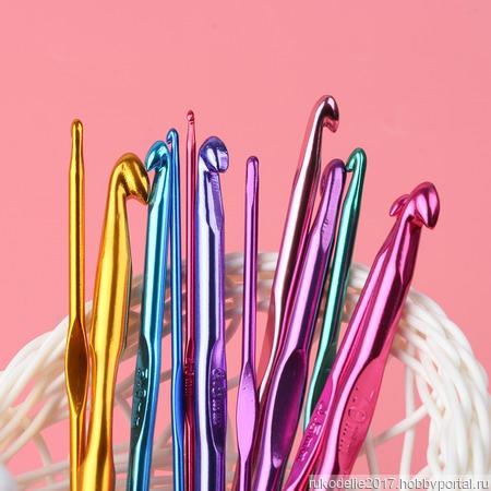 Алюминиевые крючки для вязания (2-8 мм) ручной работы на заказ