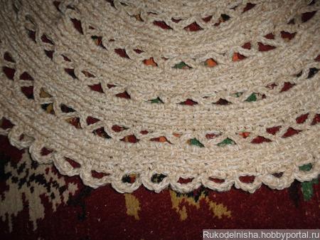 Вязаный коврик ручной работы на заказ