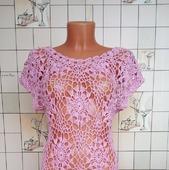 Платье пляжное, вязаное крючком