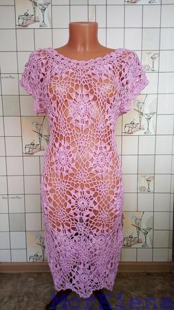 Платье пляжное, вязаное крючком ручной работы на заказ