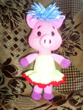 Свинка - балеринкка ручной работы на заказ