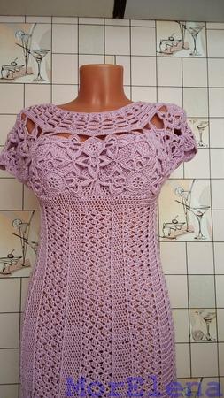 Платье, вязаное крючком ручной работы на заказ