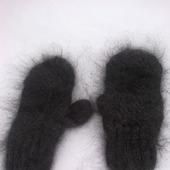 Пуховые варежки женские