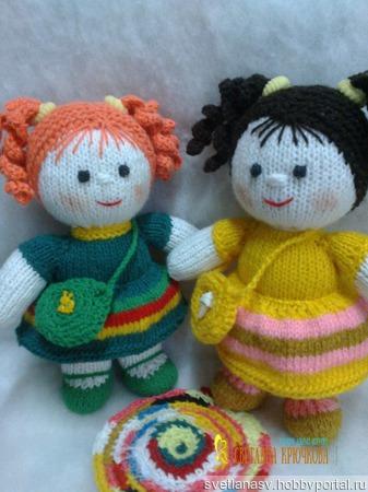 Куколка Рыженькая в зеленом ручной работы на заказ