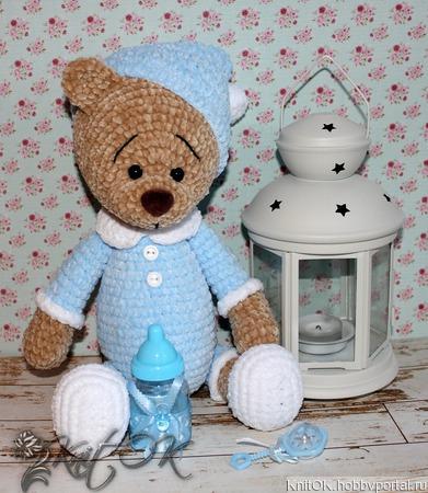 Плюшевый медвежонок ручной работы на заказ