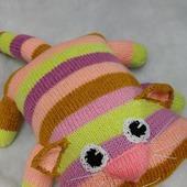 Игрушка-подушка Котик вязаный