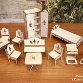 Комплект мебели для кукол до 20 см