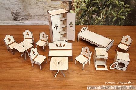Комплект мебели для кукол до 20 см ручной работы на заказ
