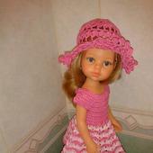 Платье и шляпка для куклы Паола Рейна
