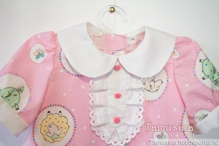 """Платье из хлопка """"Зверики"""" для девочки ручной работы на заказ"""