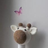 фото: Куклы и игрушки (белый вязаный жираф)