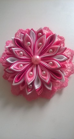 """Заколочка """" Розовое утро"""" ручной работы на заказ"""