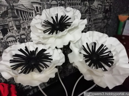 Большие интерьерные цветы ручной работы на заказ